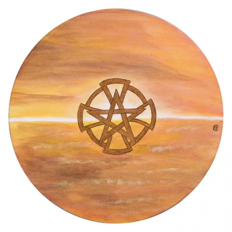 Mandala do pentagrama - D 25 cm - AST - 2008