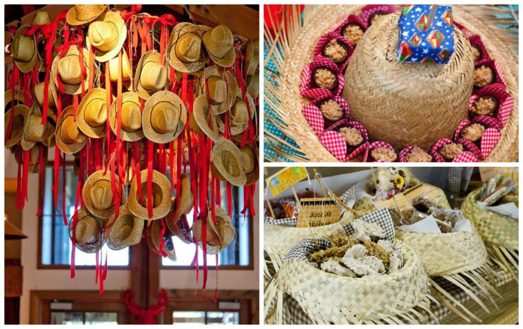 Decoração-de-festa-junina-com-chapéus-de-palha