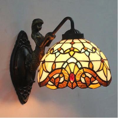 E27-90-260-V-vitral-abajur-Tiffany-sereia-lâmpada-de-parede-de-cabeceira-decoração-de-casa