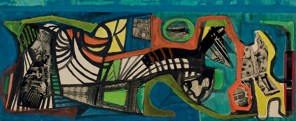 Roberto Burle Marx, Untitled, possibly a Carnival study, 1967 or after, gouache and collage on paper. (55.2 ◊ 107 cm). SÌtio Roberto Burle Marx, Rio de Janeiro. Image provided by SÌtio Roberto Burle Marx, Rio de Janeiro.  Photograph by Isabella Matheus.
