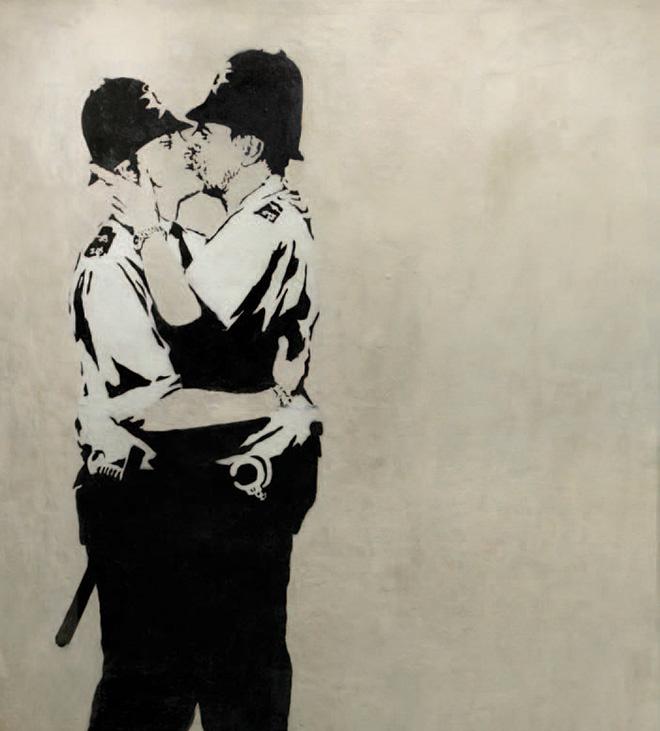 banksy-kiss